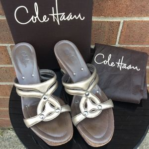 Cole Haan Salma Wedge in Pewter